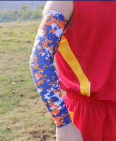 Arm Warmers artwork sleeves - Royal Blue orange white Cycling Arm Sleeves breathable elastic baseball camo arm sleeve Custom designs any artworks