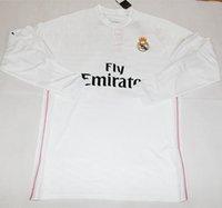2014 2015 Reales Madrid Camisetas de manga larga Home Soccer Jerseys blancos Deportes Marca la calidad de Tailandia de fútbol Ropa en venta en Stock