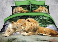 africa painting - 6pc cotton unique d Africa Lion Painting bedding sets Duvet quilt comforter cover Full queen king size bed linen sheets bedclothes set