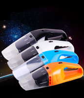 Wholesale Car Vacuum Cleaner of Portable Handheld Wet Dry Dual Use Super Suction meters Copper wire V W Black White Blue Orange
