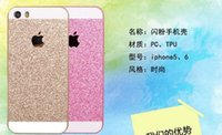 Cheap new fashion Case for iPhone 5G iPhone 6 plus case TPU Soft Glitter Cover mobile phone bags & cases Brand New Arrive 2014 Free Shipping