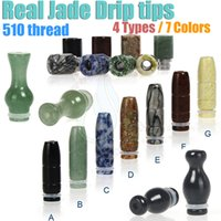 drip tips jade - New Jade Drip Tips thread Types Colors Puffs Tip fit Mod RDA ego Atomizer electronic cigarette e cig vape RBA Mouthpiece dripper