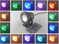 Wholesale IP67 W RGB Floodlight light Underwater LED Flood Lights Swimming Pool Outdoor Waterproof floodlight lighting Round V Convex Lens