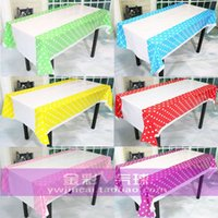 Wholesale Table linen disposable plastic tablecloths dot party Birthday Party Supplies