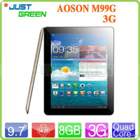 Wholesale Aoson M99G G Tablet PC Inch Point Allwinner A31S Quad Core GB RAM GB ROM MP MP Dual Camera Android HDMI OTG Phone Call