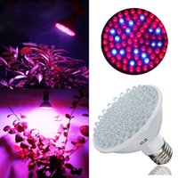 Wholesale New Full Spectrum W E27 Grow lights LED V V Plant Lamp with Red Blue LEDs For Flower Plant Hydroponics System Box