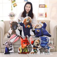 Wholesale Zootopia Hold pillow soft Plush Toy Cushion Judy Hopps Nick Wilde PP Cotton Pillow styles EMS shipping C624