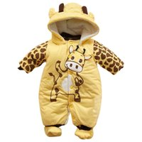 Wholesale Unisex Kid Baby Cute Warm Thick Cotton Jumpsuit Rompers Leotard Climbing Clothes New Arrival