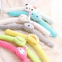 bendable hangers - Bendable Cute Flannel Padded Carton Kids Hanger Fuzzy Baby Hanger
