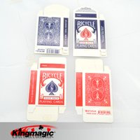 bicycle cards - Bicycle Card Box Red amp Blue Randomally Card Magic Tricks Accessories Mentalism Close up