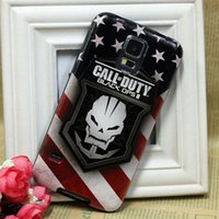 Wholesale America Style Call Of Duty Skull Soft Rubber Natural Silk Pattern Cover Cell Phone Case For Samsung Galaxy S3 S4 S5