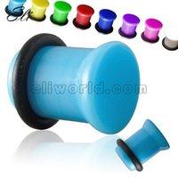 Wholesale Single Saddle Acrylic Ear Plug Tunnel Gauge Mixed Gauges mm Ear Piercing Jewelry