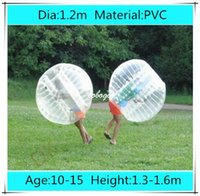 Cheap Dia 1.2m PVC inflatable human hamster ball, bubble football, soccer zorb ball, zorbing bumper ball, bubble bumpers