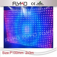 Wholesale Factory price LED Video Curtain Screen RGB curtain screen stage lighting led stage backdrop