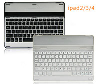 Wholesale Black Silver Slim Magnetic Aluminum Metal Case Cover Bluetooth Keyboard Dock For iPad