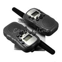 Wholesale T Dual Black Adjustable Mini Portable Multi Channels Way LCD KM UHF Car Auto VOX Radio Wireless Travel Walkie Talkie