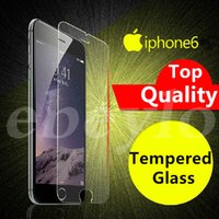 Wholesale For iPhone iPhone plus Iphone S Plus Samsung Galaxy S7 S6 Top Quality Tempered Glass Screen Protector DHL