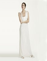 ace wedding dress - Custom Made Long Matte Chiffon Dress And ace cap sleeves and eye catching open back detail XS3450 Wedding Dresses