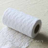 Wholesale 22 meter Per White Black Cream White Lace Roll Wedding Decoration Accessories For Party Table Runner Chair Sash Supplies