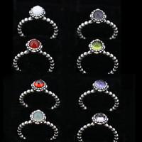 bulk rings - 12 colors pandora rings vintage sterling silver big diamond solitaire pure silver rings pandora fine jewelry fashion bulk