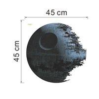 100pcs Nuevo 3d Star Wars Estrella de la Muerte Movie Poster Habitación Sala de TV Sofá Telón de fondo de vinilo de bricolaje Home Decor Wallpaper Nursery pegatinas de pared
