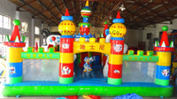 inflatable games inflatable bouncer - Best choose for rent Funny giant inflatable games city with slide bouncer combo