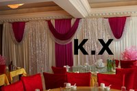 Wholesale 3M M Wedding Backdrop Curtain Wedding Drape Include Sequin Fabric