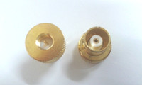 Wholesale brass Gold BNC female jack to sma male plug RF coax adapter connector