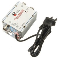antenna splitter amplifier - Lowest Price Way CATV Cable TV Signal Amplifier AMP Antenna Booster Splitter Set Broadband