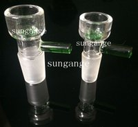 Wholesale Sungange glass bowl mm mm male joint for glass pipes and bongs with snowflake filter glass bowls