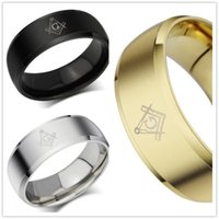 Wholesale Masonic rings for men women L stainless steel charms freemasonry ring jewelry