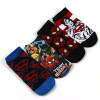 cheap socks - Facotry Cheap New cartoon superman socks Children waist stockings combed cotton short autumn and winter warm socks Christmas socks