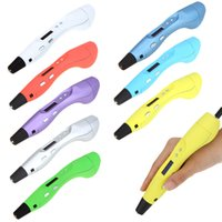 craft materials - 3D Printing Pen Stereoscopic Drawing Doodling Crafting Modeling OLED Screen ABS PLA Printer Filament Material Art Tool Gift Toy T208