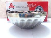 Wholesale 18cm Double Wall Stainless Steel Bowl Marmita Tableware Inch Heat insulation Lily Bowls Lunch Box Moomin Totoro Monbento