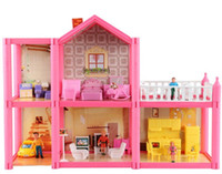 Wholesale DIY Interesting Kid Doll House Decoration Toys with Furniture Dollhouse