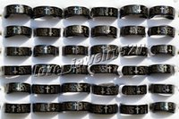 american bible - FREE L pieces English Bible Prayer Stainless steel Cross Black Rings Width Thick mm New