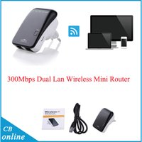 Wholesale Mbps b g n WIFI Wireless Router Dual Lan Wireless Mini Router g wifi router With Retail Package
