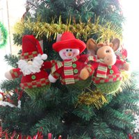 bear muppets - 2015 Hot Christmas Tree Decoration Ornaments Hangings Pendant Gift Santa Claus Fawn Snowman Bear Muppets Toys Price