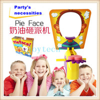 Wholesale AAA quality pie face game toys funny ecxiting plastic game toy pie face with cheap price for christmas party parent children games