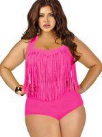 200pcs 8 colori riempito sexy su Plus Size i bikini a vita alta Bikini 2015 nuove donne sexy bikini Swimwear dei costumi da bagno nappe Bikini