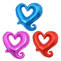 Wholesale 18 inches Valentines Gift Color Balloons LOVE HEART Romantic Wedding Party Decoration Aluminum Foil Balloons