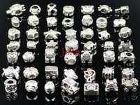 Wholesale Mix Colors Big Hole Loose Beads charm For Pandora DIY Jewelry Bracelet For European