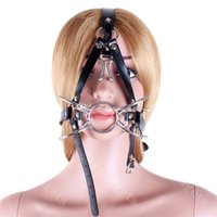 ring gag - Harness Spider Metal Ring Gag BDSM Slave Gags with Nose Hook Bondage Gear Adult Sex Products for Women ASL KQ0264