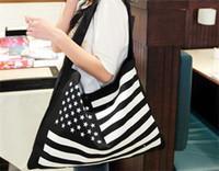 bag american flag - 2015 new American flag Bag Canvas Shoulder Bag Handbag Black bag and special Bulk bag