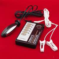 electric vibrator sex - SM Adult Sex Electric Shock Products with Clitoris Nipple Clamps Vagina Anal Plug Massage Stimulate Accessories