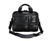 Wholesale High end First Layer Cowhide Man Bag Handbag Single sholder bag Leather Business Bag Europe and America Fashion Briefcase