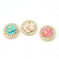 Wholesale Rose style Phone Home Button Sticker for iPhone plus S GS for iPad for Touch Mobile Phones Decals