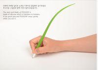 Wholesale Novelty Grass Leaf Pen Creative Korean Stationery Grass blade Pen Pooleaf Ballpoint Pens Small Fresh Grass Blade Pen DHL B