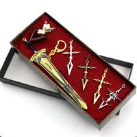 achat en gros de zéro anneaux-accessoires périphériques d'animation Fate Zero Saber font épée contrat malédiction victoire anneau de collier Liu jiantao