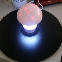 LED best lighting effects - Night Light Mushroom Light LED Colorful Stars Effect Lamp LED Mushroom Table Lamp Light Beads Best gift